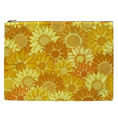 Flower Sunflower Floral Beauty Sexy Cosmetic Bag (xxl)