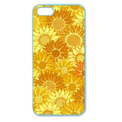 Flower Sunflower Floral Beauty Sexy Apple Seamless Iphone 5 Case (color)