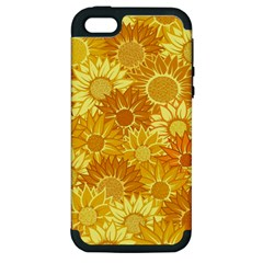 Flower Sunflower Floral Beauty Sexy Apple Iphone 5 Hardshell Case (pc+silicone)