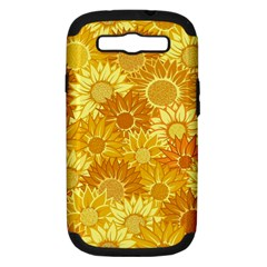 Flower Sunflower Floral Beauty Sexy Samsung Galaxy S Iii Hardshell Case (pc+silicone)