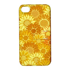 Flower Sunflower Floral Beauty Sexy Apple Iphone 4/4s Hardshell Case With Stand