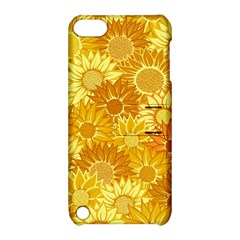 Flower Sunflower Floral Beauty Sexy Apple Ipod Touch 5 Hardshell Case With Stand