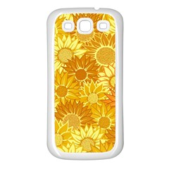 Flower Sunflower Floral Beauty Sexy Samsung Galaxy S3 Back Case (white)