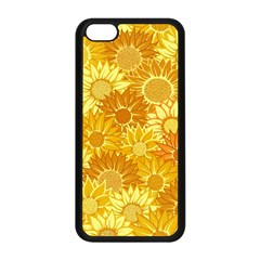 Flower Sunflower Floral Beauty Sexy Apple Iphone 5c Seamless Case (black)