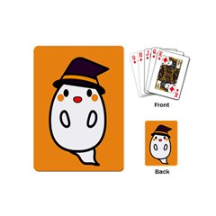 Halloween Ghost Orange Playing Cards (mini)
