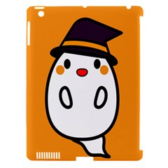 Halloween Ghost Orange Apple Ipad 3/4 Hardshell Case (compatible With Smart Cover)