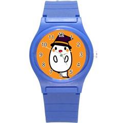 Halloween Ghost Orange Round Plastic Sport Watch (s)