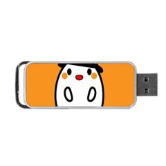 Halloween Ghost Orange Portable Usb Flash (one Side)