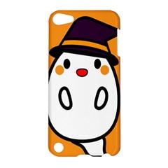 Halloween Ghost Orange Apple Ipod Touch 5 Hardshell Case