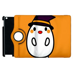 Halloween Ghost Orange Apple Ipad 3/4 Flip 360 Case