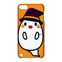Halloween Ghost Orange Apple Ipod Touch 5 Hardshell Case With Stand