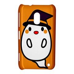 Halloween Ghost Orange Nokia Lumia 620