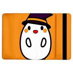 Halloween Ghost Orange Ipad Air Flip