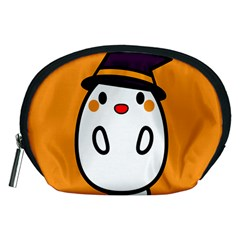 Halloween Ghost Orange Accessory Pouches (medium)