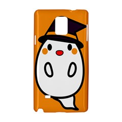 Halloween Ghost Orange Samsung Galaxy Note 4 Hardshell Case