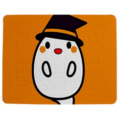 Halloween Ghost Orange Jigsaw Puzzle Photo Stand (rectangular)