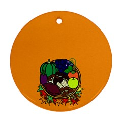 Healthy Vegetables Food Ornament (round)