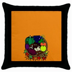 Healthy Vegetables Food Throw Pillow Case (black)