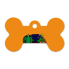 Healthy Vegetables Food Dog Tag Bone (two Sides)