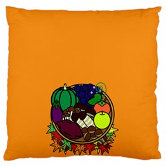Healthy Vegetables Food Standard Flano Cushion Case (one Side)