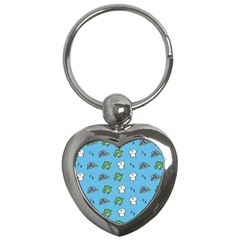 Frog Ghost Rain Flower Green Animals Key Chains (heart)