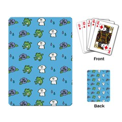 Frog Ghost Rain Flower Green Animals Playing Card