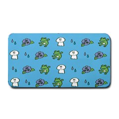 Frog Ghost Rain Flower Green Animals Medium Bar Mats