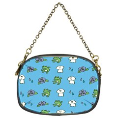 Frog Ghost Rain Flower Green Animals Chain Purses (one Side)