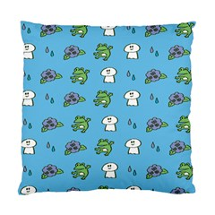 Frog Ghost Rain Flower Green Animals Standard Cushion Case (one Side)