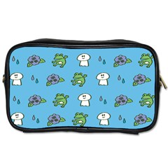 Frog Ghost Rain Flower Green Animals Toiletries Bags 2 Side
