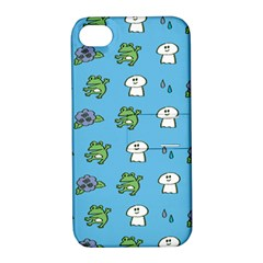 Frog Ghost Rain Flower Green Animals Apple Iphone 4/4s Hardshell Case With Stand