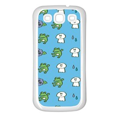 Frog Ghost Rain Flower Green Animals Samsung Galaxy S3 Back Case (white)