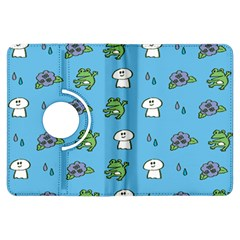 Frog Ghost Rain Flower Green Animals Kindle Fire Hdx Flip 360 Case