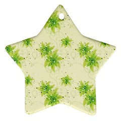 Leaf Green Star Beauty Ornament (star)