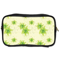 Leaf Green Star Beauty Toiletries Bags 2 Side