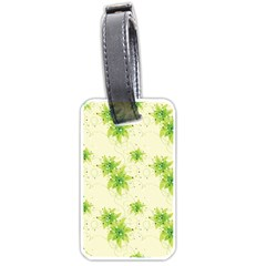 Leaf Green Star Beauty Luggage Tags (two Sides)