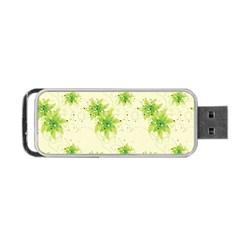 Leaf Green Star Beauty Portable Usb Flash (one Side)