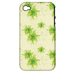 Leaf Green Star Beauty Apple Iphone 4/4s Hardshell Case (pc+silicone)