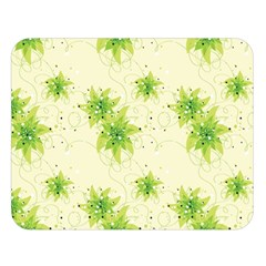 Leaf Green Star Beauty Double Sided Flano Blanket (large)