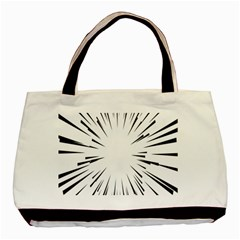 Line Black Sun Arrow Basic Tote Bag (two Sides)