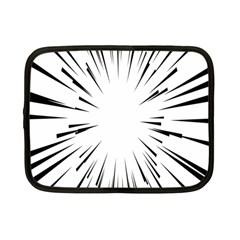 Line Black Sun Arrow Netbook Case (small)