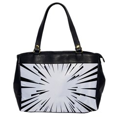 Line Black Sun Arrow Office Handbags