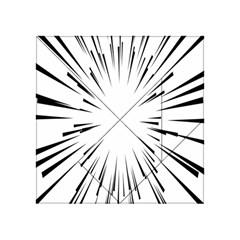 Line Black Sun Arrow Acrylic Tangram Puzzle (4  X 4 )