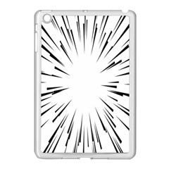 Line Black Sun Arrow Apple Ipad Mini Case (white)