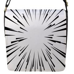 Line Black Sun Arrow Flap Messenger Bag (s)
