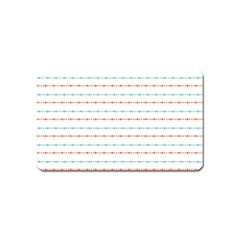 Line Polka Dots Blue Red Sexy Magnet (name Card)