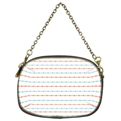 Line Polka Dots Blue Red Sexy Chain Purses (one Side)