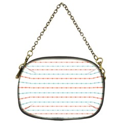 Line Polka Dots Blue Red Sexy Chain Purses (two Sides)