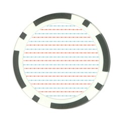 Line Polka Dots Blue Red Sexy Poker Chip Card Guard (10 Pack)
