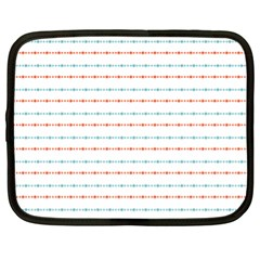 Line Polka Dots Blue Red Sexy Netbook Case (xl)